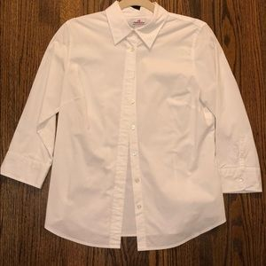 J crew white button up shirt with stretch
